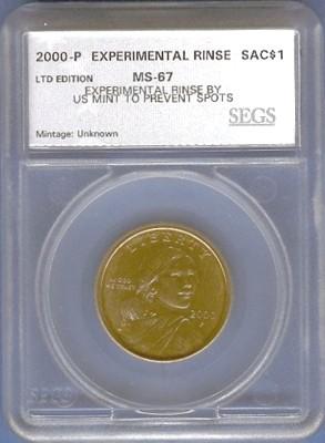 Experimental Rinse Sacagawea Dollars