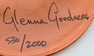Glenna Goodacre signature on #530 of 2,000 Terra Cotta