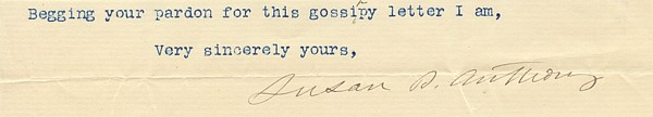 Signature of Susan B. Anthony