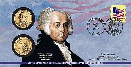 2007 John Adams $1 Coin Cover (P22)